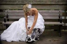 LOVE this! I want a picture in my riding boots and cowboy boots when I eventually get married