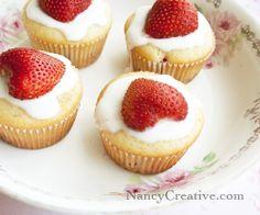 Strawberry Yogurt Muffins from nancycreative.com