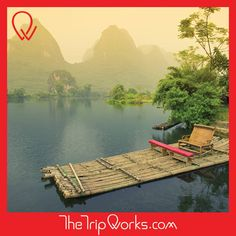 #TravelBucketList Taking a bamboo raft ride is an excellent & relaxing way to take in the amazing view of the #DragonRiver and watch the countryside just drift by.
