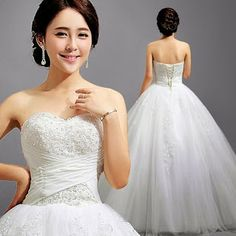 Beaded Sweetheart Wedding Gown :: My Gown Dress