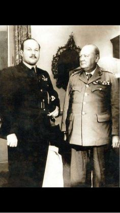 الملك فاروق وونستون تشرشل, King Farouk and Churchill…killer look.