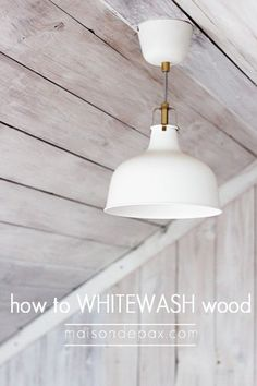 How to whitewash wood for a plank wall.