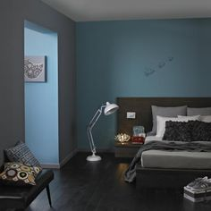 Light teal color bedroom teal blue bedroom decor glamorous light and black ideas with grey light teal blue bedroom Grey Colour Scheme Bedroom, Blue Gray Bedroom, Gray Bedroom Walls, Blue Bedroom Decor, Bedroom Colors, Grey Walls, Bedroom Ideas, Gray Rooms, Bedroom Inspiration