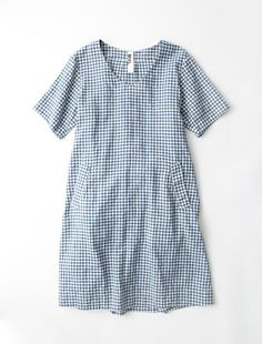 Blue gingham Laurel dress