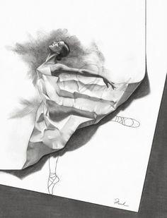 Amazing 3D Pencil Drawing!!  'Dancer' by Henrik (Netherlands)