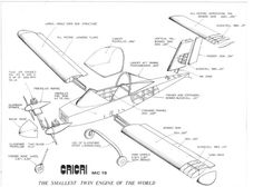 Cri cri airplane cutaway drawings #cricri #ultralight #airplanes