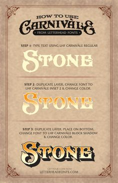 Imaginative font set reminiscent of old cigar labels and classic glass signage from the late 1800's