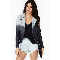 Night Shift Leather Jacket ($590) ❤ liked on Polyvore