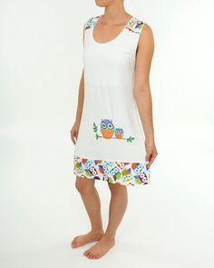 48f3a01669 Ladies Nightgown Women s Night Dress Racerback by PajamasNmore  pajamasnmore   owls  handmade  sleepwear