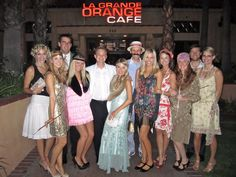 gatsby decorations for party | The whole Gatsby gang outside of dinner... We had quite a fun time ...