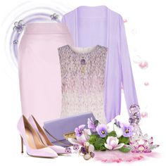"""""""Pastel Pink and Purple"""" by signaturenails-dstanley on Polyvore"""