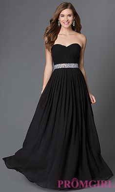 Ruched Bodice Strapless Sweetheart Corset Prom Dress at PromGirl.com ($140)