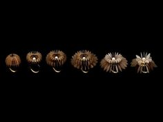 The Blossoming Series by NUTRE ARAYAVANISH  is a series composed of 7 rings that demonstrate a lifetime of a blossoming flower.