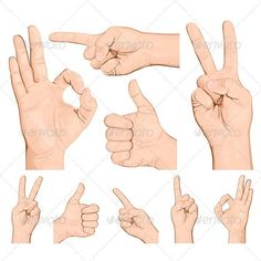 Collection of Hand Gestures. $7.00