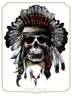 Chief Skull, Juan pluMa blanca. Jefe de los pieles rojas.