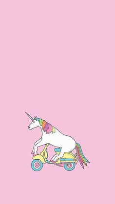 This unicorn riding a Vespa is too cute! I need this as a poster or something!