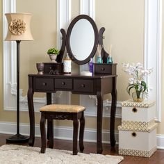 Chelsey Dressing Vanity Set with Mirror