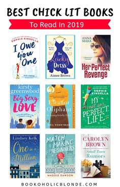 Looking for the best chick-lit books to read in I've got this. Here's a really long list of the most popular and the funniest new chick lit books. Feel Good Books, Best Books To Read, I Love Books, My Books, Book Nerd, Book Club Books, Book Lists, Reading Lists, Book Suggestions