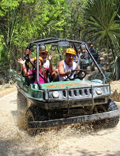 Drive into the jungle with our amphibious vehicles in your next vacations. #Cancun #RivieraMaya
