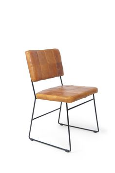 'Bruce' Dining Chair with Cognac Luxor Leather