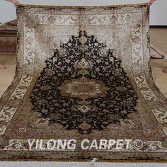Yilong Oriental Silk Area Rug Hand Knott Ed Art Carpets Handmade 0310