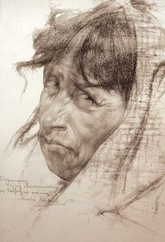 Mexican old woman (1927-1933) - Nicolai Fechin