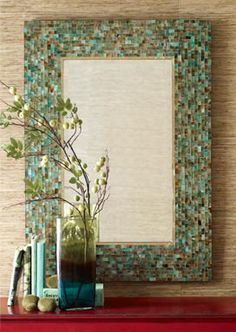 LOVE this mirror and how the blues/greens pop against the neutral background without being overwhelming