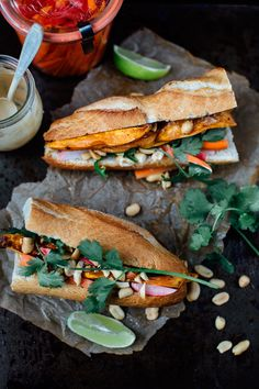 Smokey sweet potato bánh mì /