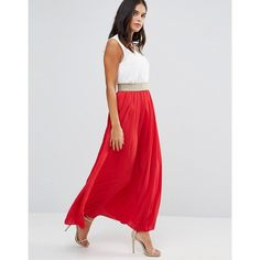 Wal G Maxi Skirt ($25) ❤ liked on Polyvore featuring skirts, red, long red skirt, ankle length skirt, high-waisted skirts, high-waisted maxi skirt and high waisted maxi skirt
