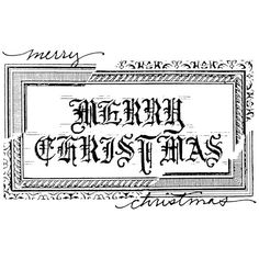 Elegant Christmas Wood Mounted Stamp by Michelle Ward