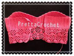 As Receitas de Crochê: Cropped de crochê feito pela Pretta Crochet