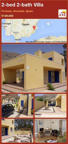 2-bed 2-bath Villa in Fortuna, Alicante, Spain ►€129,000 #PropertyForSaleInSpain
