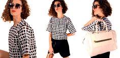 #OUTFITS #BALENCIAGA Summer 2014, Spring Summer, Polka Dot Top, Balenciaga, Ruffle Blouse, Outfits, Tops, Women, Fashion