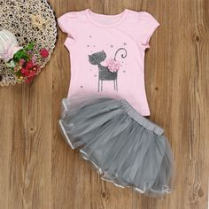 3ee8bf1f4f39 Vicbovo Clearance Sale Summer Girls Dresses Kids Toddler Baby Girl Short  Sleeve Cute Cat Print Tutu