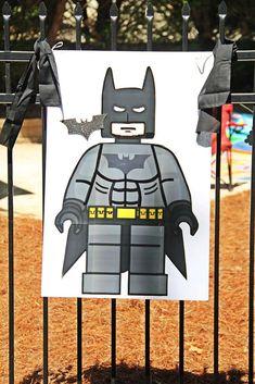 Batman Birthday Party Ideas - Lego Batman - Ideas of Lego Batman - Lego Batman Birthday Party Ideas Lego Batman Birthday, Lego Batman Party, Superhero Theme Party, 6th Birthday Parties, 4th Birthday, Kid Parties, Birthday Ideas, Batman Games For Kids, Lego Knights