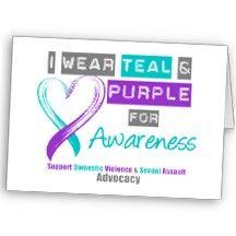 I Wear Teal & Purple - Domestic Violence Awareness Ptsd Awareness, Create Awareness, Domestic Violence Tattoo, Eve Instagram, Survivor Tattoo, Narcissistic Sociopath, Emotional Abuse, Feminism, Tatoos