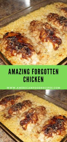 forgotten american amazing chicken recipes food AMAZING FORGOTTEN CHICKEN American Food RecipesYou can find Main dishes and more on our website Butter Chicken Rezept, Forgotten Chicken, Comfort Food, Le Diner, Main Meals, Food Dishes, Main Dishes, Food Design, Dinner Recipes