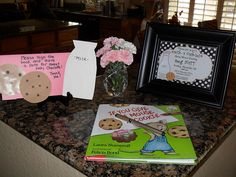 Love this idea! Have guest book be a children's book and guest sign inside front cover.