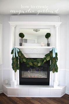 DIY Magnolia Garland tutorial | Christmas decorating