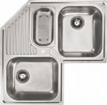 Franke AMX671E Topmount Double Bowl Corner Sink Armonia Stainless Steel