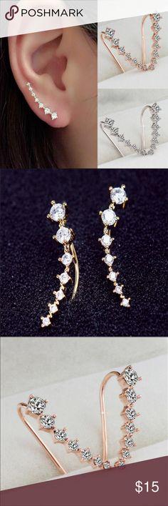 Cute Cuff Earrings Hot Ear Cuff Earrings. Gold color. Jewelry Earrings