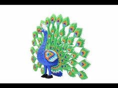 3D Origami Large Peacock Tutorial - YouTube