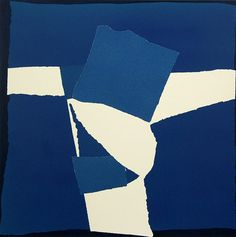 Buy- Blue Square Collage- signed limited edition silkscreen print with collage by abstract artist Sandra Blow RA from CCA Galleries Hard Edge Painting, Action Painting, Textiles Sketchbook, Found Art, Blue Square, Seascape Paintings, Collage Art, Collages, Female Art
