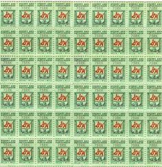 **FREE Vintage Printable - S Green Stamps