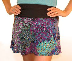 Love all the peacocks? Then you'll definitely want to add this sapphire peacock running skirt to your closet! PeacockSapphire features jewel tones and hot blue sequins, plus our famous standard wickin