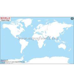 Buy World blank map.