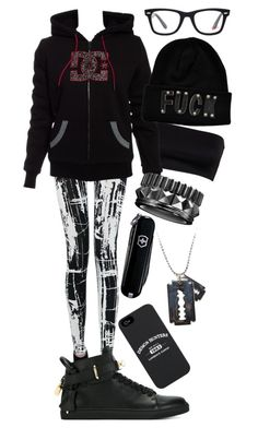 """""""Untitled #23"""" by minyxxngi ❤ liked on Polyvore featuring BUSCEMI, Victorinox Swiss Army, Ray-Ban and Waterford"""