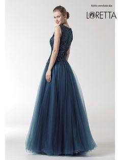 Collezione 2016   Abito lungo da cerimonia blu notte con gonna gonfia #cerimonia #vestitolungo #dress #longdress