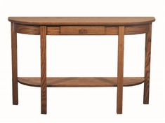 Amish Heritage Mission Half Moon Console Table