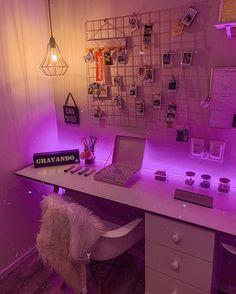 Neon Bedroom, Room Design Bedroom, Room Ideas Bedroom, Bedroom Inspo, Hipster Bedroom Decor, Car Bedroom, Ikea Bedroom, Bedroom Black, Nursery Design
